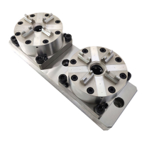 2 in 1 CNC Pneumatic Chuck D100 with Base Plate